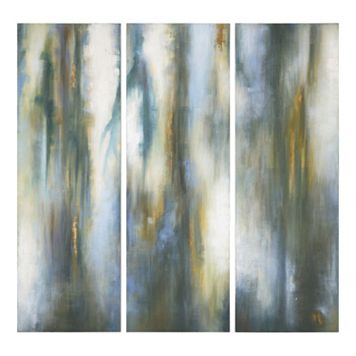 ''Moonglow'' 3-piece Canvas Wall Art Set by Grace Feyock