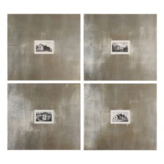 ''Historical Buildings I, II, III, IV'' 4-piece Framed Wall Art Set by Grace Feyock