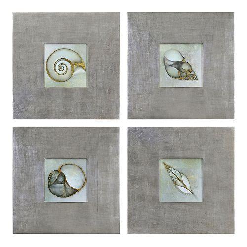 Uttermost ''Neptune's Garden'' 4-piece Framed Wall Art Set by Bert Myers