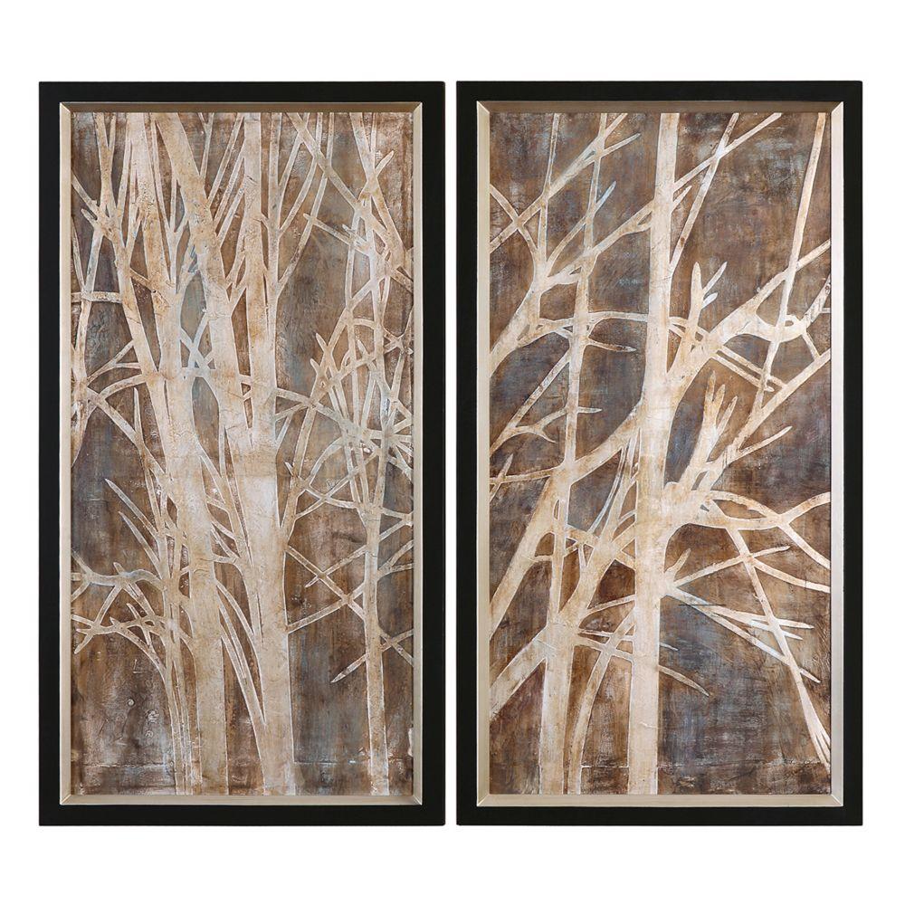 Twig Wall Art twigs'' 2-piece framed canvas wall art setgrace feyock