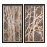 Uttermost ''Twigs'' 2-piece Framed Canvas Wall Art Set by Grace Feyock