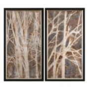 Uttermost ''Twigs'' 2-piece Framed Canvas Wall Art Set by Grace Feyock