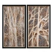 ''Twigs'' 2 pc Framed Canvas Wall Art Set by Grace Feyock