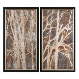''Twigs'' 2-piece Framed Canvas Wall Art Set by Grace Feyock