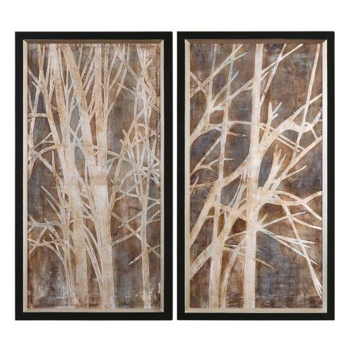 """Twigs"" 2-piece Framed Canvas Wall Art Set by Grace Feyock"