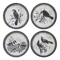 ''Birds In Nature'' 4-piece Framed Wall Art Set