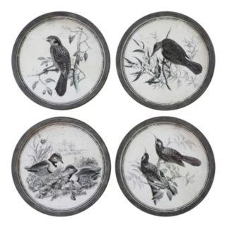 ''Birds In Nature'' 4-piece Framed Wall Art Set
