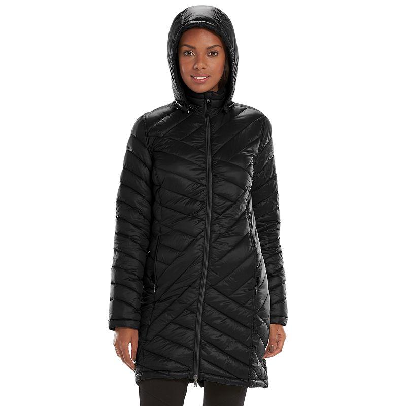 Women's Tek Gear® Hooded Packable Long Puffer Jacket