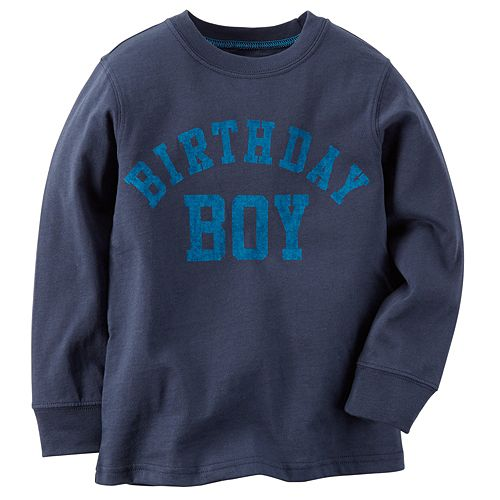 Boys 4 8 Carters Birthday Boy Tee