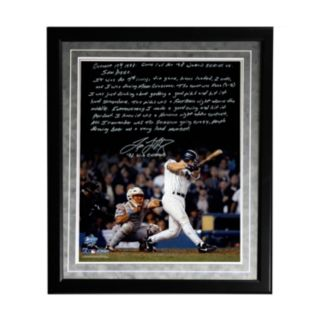 "Steiner Sports New York Yankees Tino Martinez 1998 World Series Grand Slam Facsimile 16"" x 20"" Framed Metallic Story Photo"