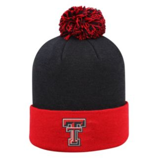 Adult Top of the Wold Texas Tech Red Raiders Knit Pom Pom Hat