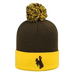 Adult Top of the World Wyoming Cowboys Pom Knit Hat