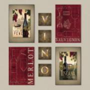''Vino'' Blocks 8-piece Wall Art Set