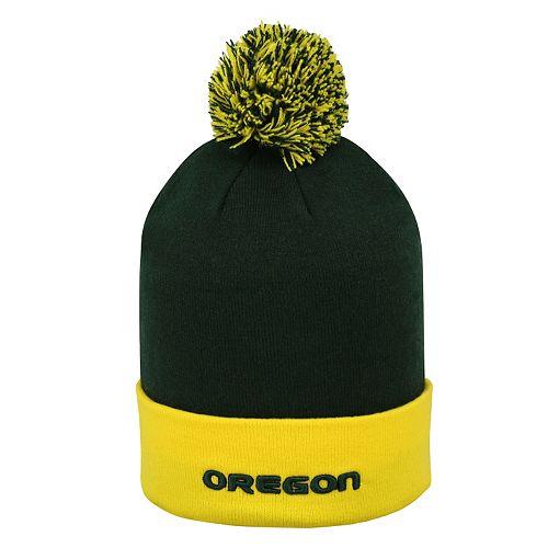 Adult Top of the World Oregon Ducks Pom Knit Hat