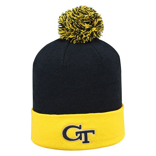 Adult Top of the World Georgia Tech Yellow Jackets Pom Knit Hat