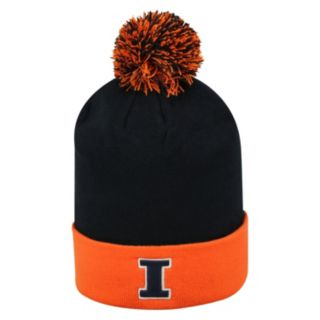 Adult Top of the World Illinois Fighting Illini Pom Knit Hat
