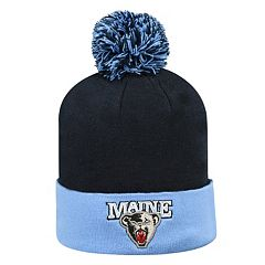 Adult Top of the World Maine Black Bears Pom Knit Hat