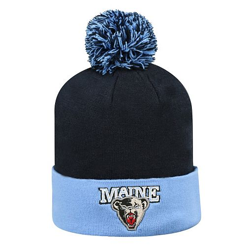 Adult Top of the World Maine Black Bears Pom Knit Hat 8569b4cad43