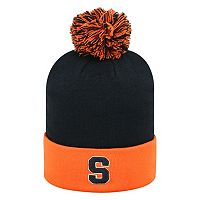 Adult Top of the Wold Syracuse Orange Knit Pom Pom Hat