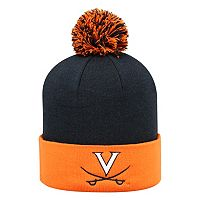 Adult Top of the World Virginia Cavaliers Pom Knit Hat