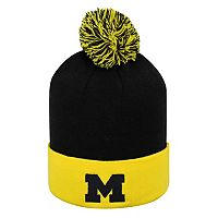 Adult Top of the World Michigan Wolverines Pom Knit Hat