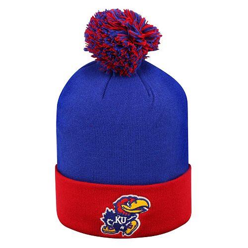 Adult Top of the World Kansas Jayhawks Pom Knit Hat