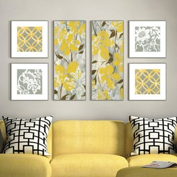 Buttercups Botanical 6-piece Framed Wall Art Set | null