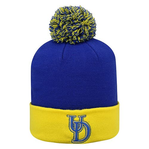 Adult Top of the Wold Delaware Blue Hens Knit Pom Pom Hat