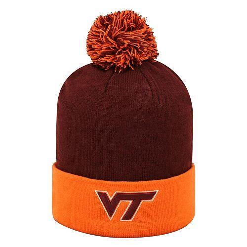 Adult Top of the World Virginia Tech Hokies Pom Knit Hat