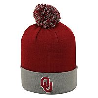 Adult Top of the World Oklahoma Sooners Pom Knit Hat