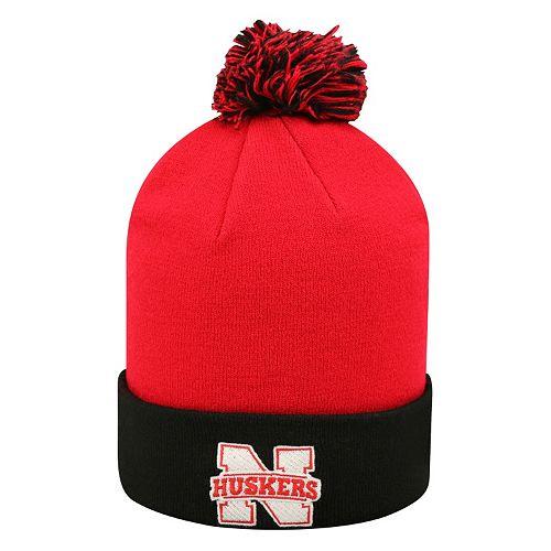 Adult Top of the World Nebraska Cornhuskers Pom Knit Hat