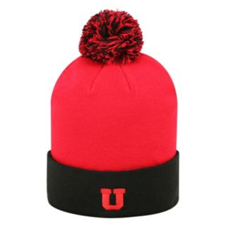 Adult Top of the World Utah Utes Pom Knit Hat