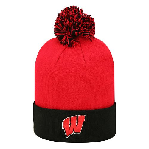 Adult Top of the Wold Wisconsin Badgers Knit Pom Pom Hat