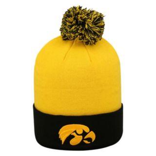 Adult Top of the World Iowa Hawkeyes Pom Knit Hat