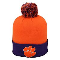 Adult Top of the World Clemson Tigers Pom Knit Hat