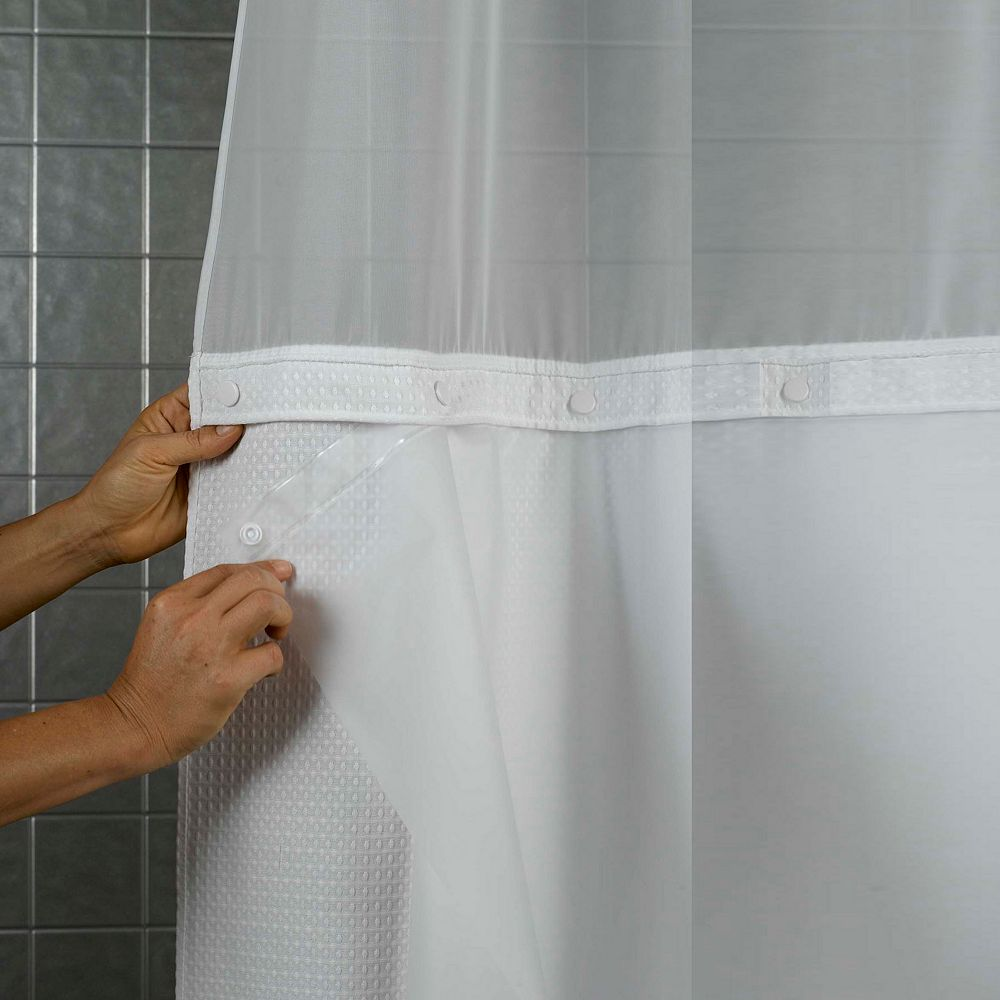 Hookless Shower Curtains With Snap Liner Curtain Menzilperde Net