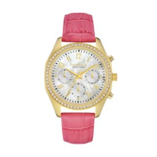Caravelle New York by Bulova Women's Crystal Leather Chronograph Watch - 44L169
