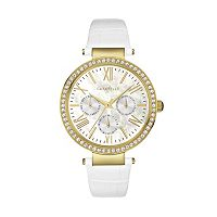 Caravelle New York by Bulova Women's Crystal Leather Watch