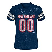 Girls 4-6x New England Patriots Burnout Tee