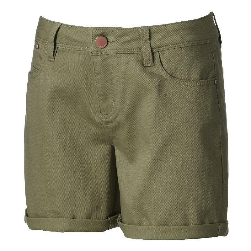 Tinseltown Juniors' Girlfriend Bermuda Jean Shorts