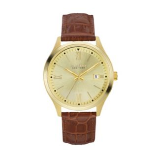 Caravelle New York by Bulova Men's Leather Watch - 44B109