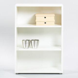 Tvilum Structure 3-Shelf Wide Bookcase