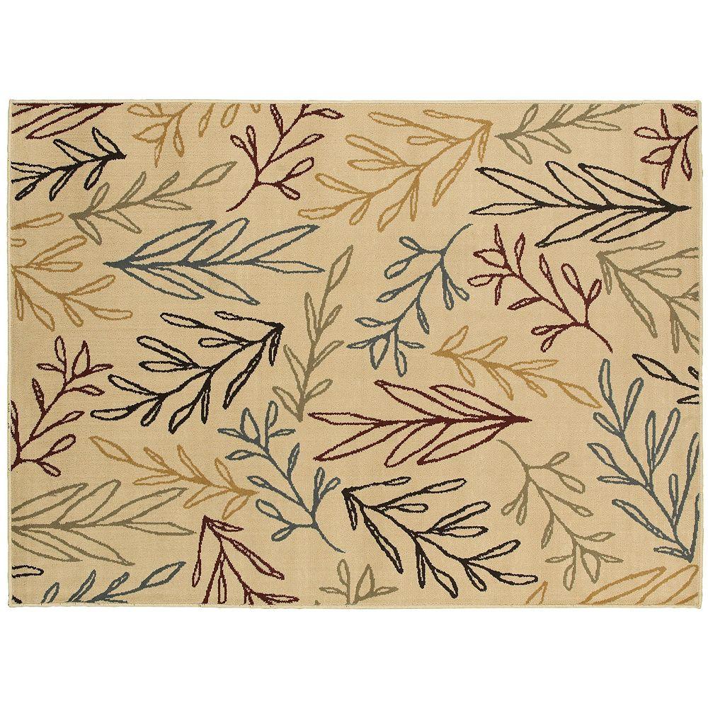 StyleHaven Grant Line Drawn Leaf Rug
