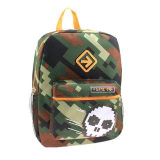 "Pixelated Camo Skull ""Game On"" Backpack - Kids"