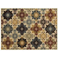 StyleHaven Grant Floral Cross Rug