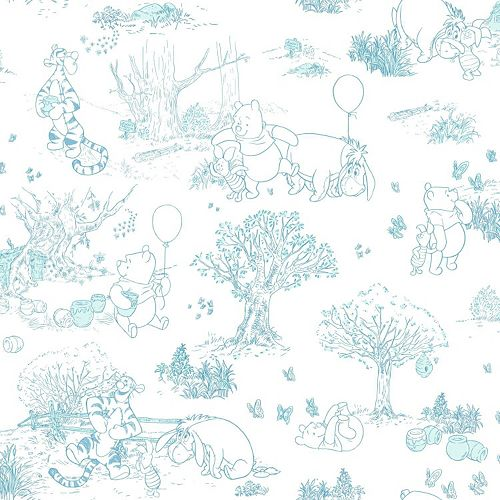 Wallpaper Winnie The Pooh: Disney's Winnie The Pooh & Friends Toile Removable Wallpaper