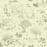 Disney's Winnie the Pooh & Friends Toile Removable Wallpaper