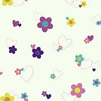 Disney's Flower & Hearts Removable Wallpaper