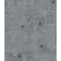 Disney's Planes Blueprint Removable Wallpaper