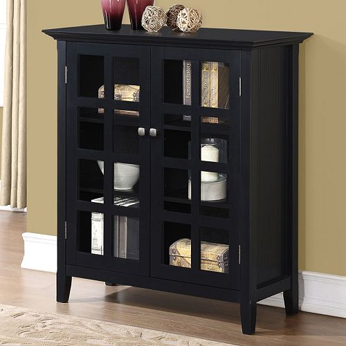 Simpli Home Acadian Medium Storage Cabinet